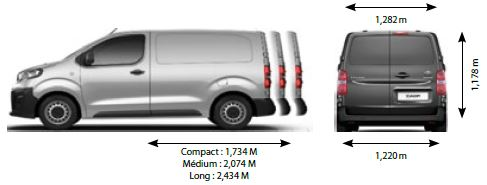 Dimensions Toyota Proace 2016